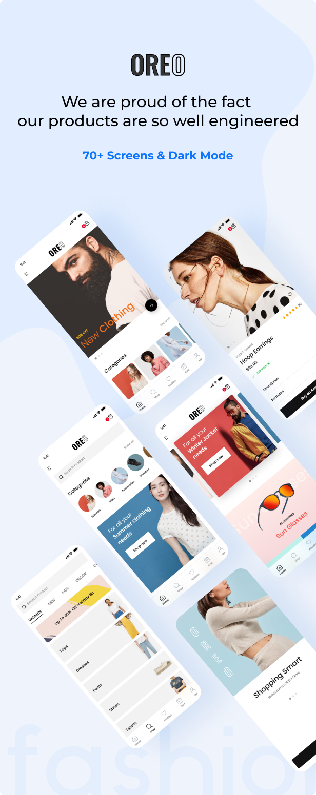 Woocommerce App Oreo Fashion & Free Source Code Shoping 2020